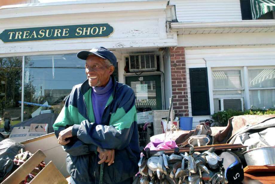 Alfred Alexander, owner of the Treasure Shop, stands outside of his store in Stamford, Conn. on Monday September 19, 2011. Photo: Dru Nadler / Stamford Advocate Freelance