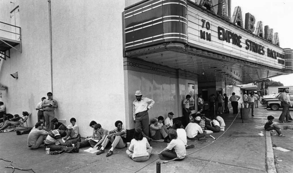 CHRONICLE FILE WHEN IT WAS A THEATER: Star Wars fans wait outside the Alabama Theater in May 1989 to see The Empire Strikes Back.