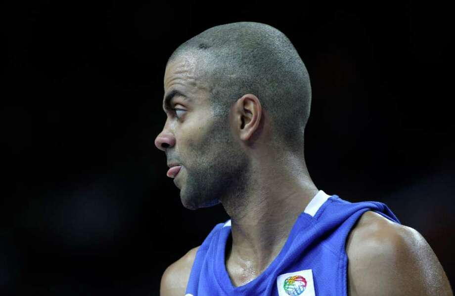 Tony Parker from France reacts during the EuroBasket European Basketball Championship bronze medal match against Spain in Kaunas, Lithuania, Sunday, Sept. 18, 2011. Photo: Petr David Josek/Associated Press / AP