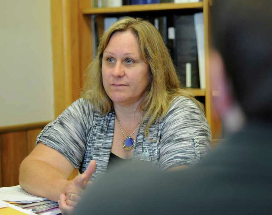 Gilboa Central School Superintendent Ruth Reeve speaks to the Times Union about the plight of her students and their families in the three county area that her school draws from in her office at the Gilboa Conesville Central Schools building in Gilboa, N.Y.   (Skip Dickstein / Times Union) Photo: SKIP DICKSTEIN / 00014682A