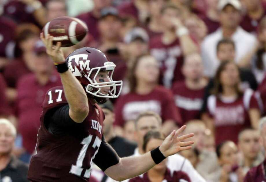 Aggies QB Ryan Tannehill has won eight of nine games since taking over for Jerrod Johnson. Photo: David J. Phillip/Associated Press