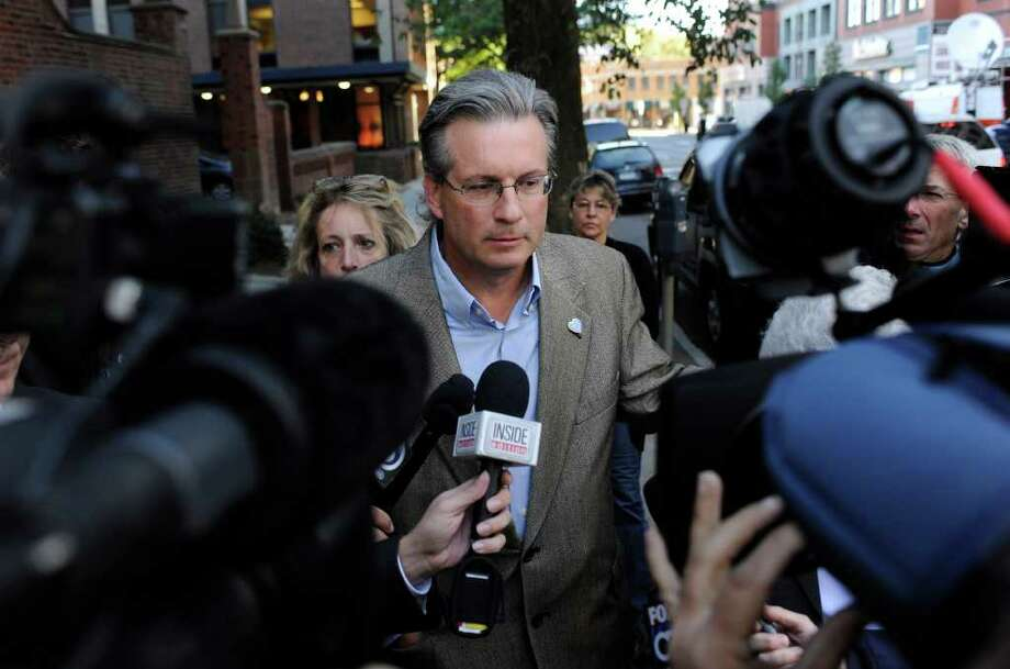 Dr. William Petit Jr. arrives at Superior Court in New Haven for the first day of the trial of Joshua Komisarjevsky in New Haven, Conn., Monday, Sept. 19, 2011. Petit is the sole survivor of the 2007 Cheshire, Conn., home invasion where his wife, Jennifer Hawke-Petit and their daughters, Hayley and Michaela, were murdered. (AP Photo/Jessica Hill) Photo: Jessica Hill, Associated Press / AP2011
