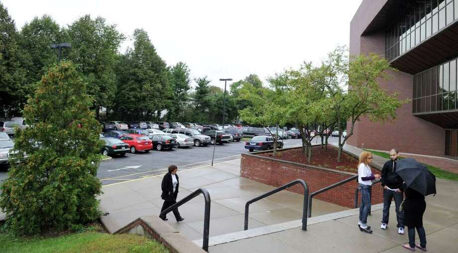 The parking lot at Danbury Superior Court on White Street will be reserved for court staffers and jurors as of Oct. 3.  Photo taken Tuesday, Sept. 20, 2011. Photo: Carol Kaliff / The News-Times