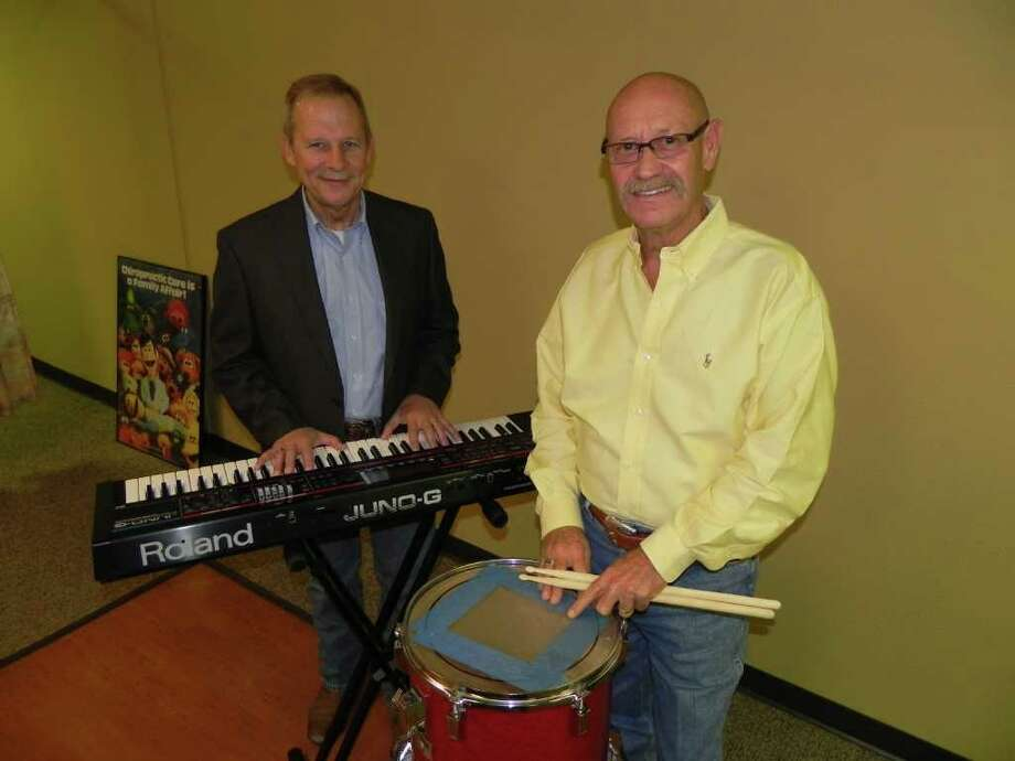 COURTESY  READY TO PERFORM: Local band Not Guilty, which includes Danny Williamson, left, and Gary Ingram, will perform at the Vegas Night fundraiser for Sarah's House. Photo: NOT GUILTY