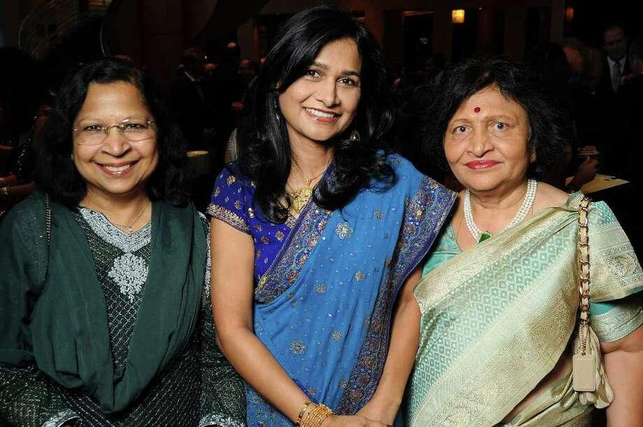 Chitra Nadimpalli, Anu Bala and Prabha Bhalla Photo: Dave Rossman, For The Chronicle / © 2011 Dave Rossman