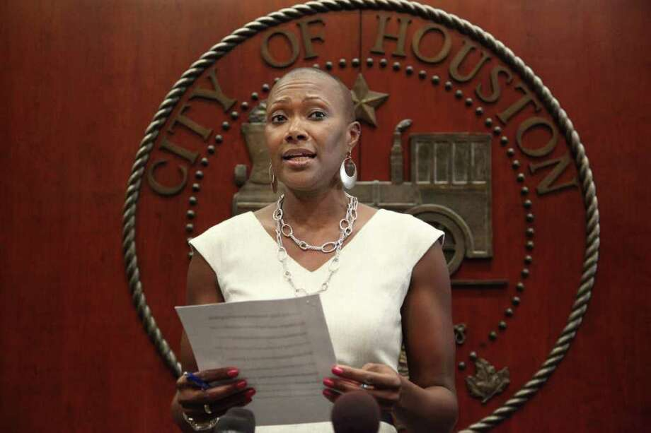 """I am confident that when all of the facts come to light, I will have acted within the acceptable standards of conduct."" says City Council member Jolanda Jones during a press conference where she reads a prepared statement regarding Office of Inspector General report on possible ethics violations on Monday, June 13, 2011, in Houston. ( Mayra Beltran / Houston Chronicle ) Photo: Mayra Beltran / © 2011 Houston Chronicle"