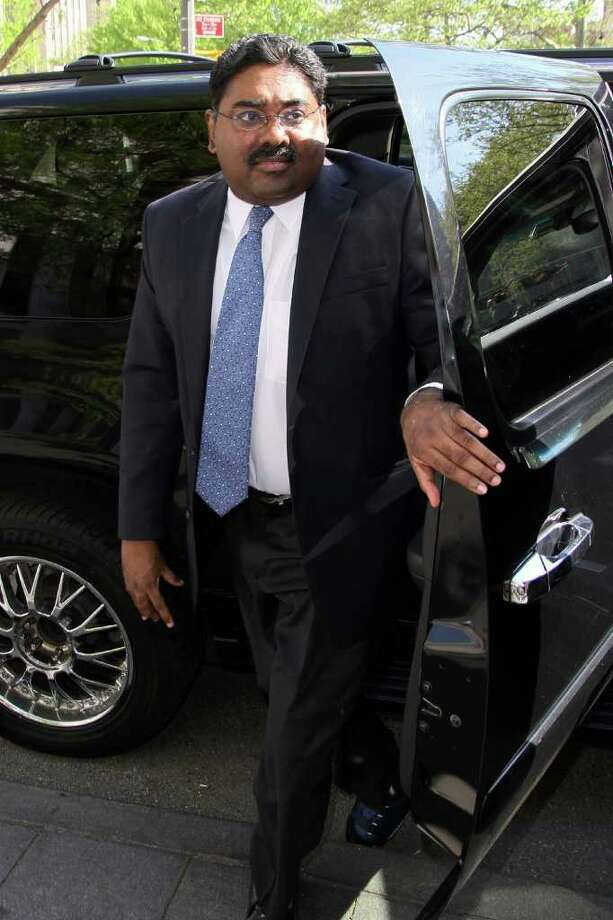 Raj Rajaratnam, the Galleon Group LLC co-founder convicted of insider trading, arrives at federal court in New York, U.S., on Friday, May 6, 2011. Photographer: Rick Maiman/Bloomberg *** Local Caption *** Raj Rajaratnam Photo: Rick Maiman, Bloomberg / © 2011 Bloomberg Finance LP