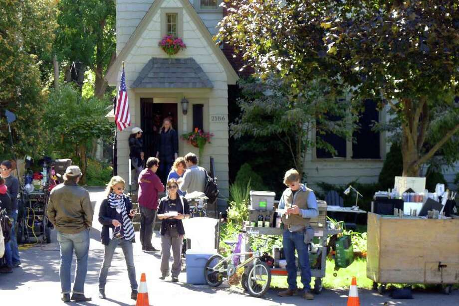 "A private home on Story Avenue was used to film a scene from ""The Place Beyond the Pine"" in Niskayuna ,NY Friday Sept.16, 2011. ( Michael P. Farrell/Times Union) Photo: Michael P. Farrell, Albany Times Union / 00014660A"
