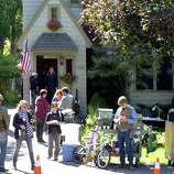 """A private home on Story Avenue was used to film a scene from """"The Place Beyond the Pine"""" in Niskayuna ,NY Friday Sept.16, 2011. ( Michael P. Farrell/Times Union)"""