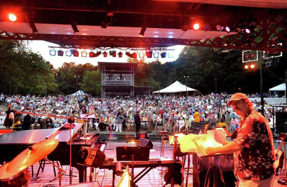 Audience members await the start of a show at Ives Concert Park in Danbury. Between some very popular acts this summer and a cooperative weather pattern, the past season was a great success, said Phyllis Cortese, the park's executive director. Photo: Michael Duffy