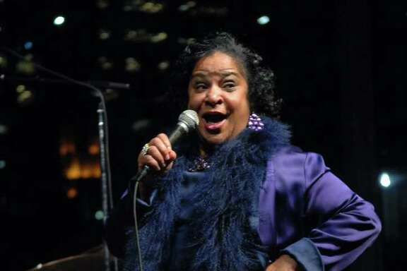 Yvonne Washington performing at Mayor's Inaugural Free Concert celebrating the inauguration of Annise Parker.