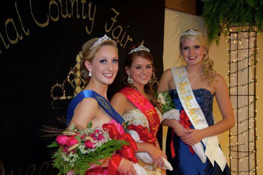 The 2011 Comal County Fair Court includes (left to right) Kendall Fox, queen, Tra Schacht, princess and Morrigan Land, duchess. The fair kicks off Friday with a parade downtown New Braunfels. Photo: Photo By K. Jessie Slaten