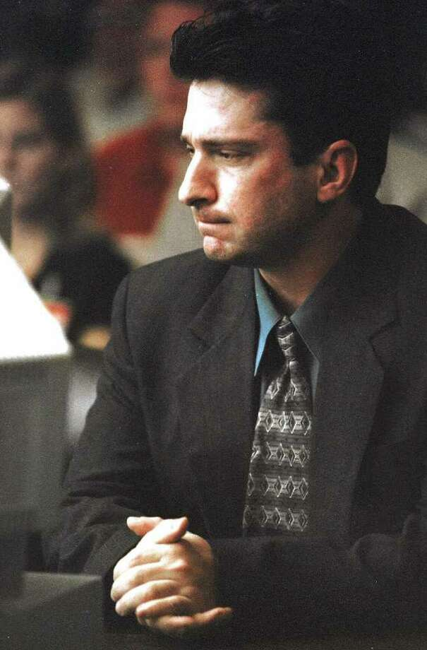 FILE - In a Monday Sept. 20, 1999 file photo, Lawrence Russell Brewer listens to the guilty verdict being read in his capital murder trial at the Brazos County Courthouse in Bryan, Texas. Brewer, 44, one of two purported white supremacists condemned for Byrd?s death, is set for execution Wednesday, Sept. 21, 2011 for participating in chaining Byrd to the back of a pickup truck, dragging the black man along the road and dumping what was left of his shredded body outside a black church and cemetery.    (AP Photo/Butch Ireland, Pool) Photo: BUTCH IRELAND, POOL / POOL COLLEGE STATION EAGLE