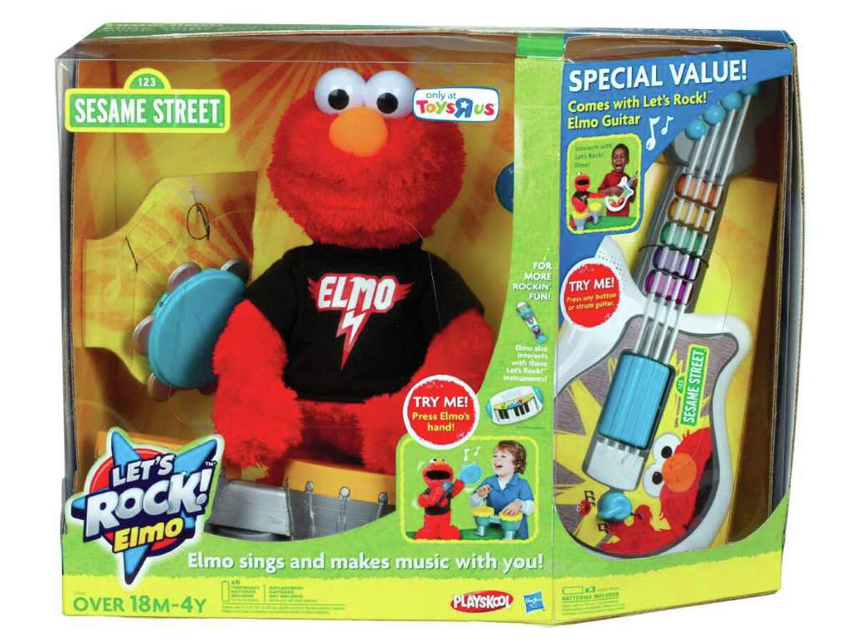 Let's Rock! Elmo: Everyone's favorite furry red monster is ready to rock in this new interactive version that comes band-ready with a drum, tambourine and microphone. After requesting an instrument, Let's Rock! Elmo recognizes which one is placed in his hand and uses it to accompany one of six songs, including the theme to