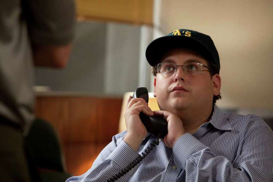 "In this image released by Sony Pictures, Jonah Hill is shown in a scene from ""Moneyball.""  (AP Photo/Columbia Pictures-Sony, Melinda Sue Gordon) Photo: Melinda Sue Gordon"