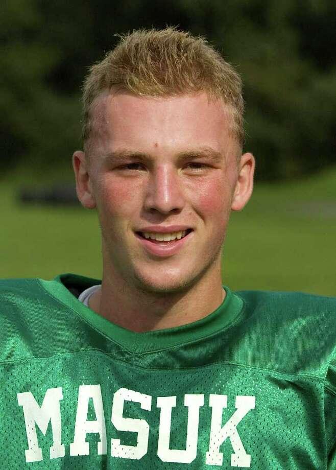 Masuk High School football - Casey Cochran.  Photographed Aug. 24, 2011. Photo: Jason Rearick / The News-Times