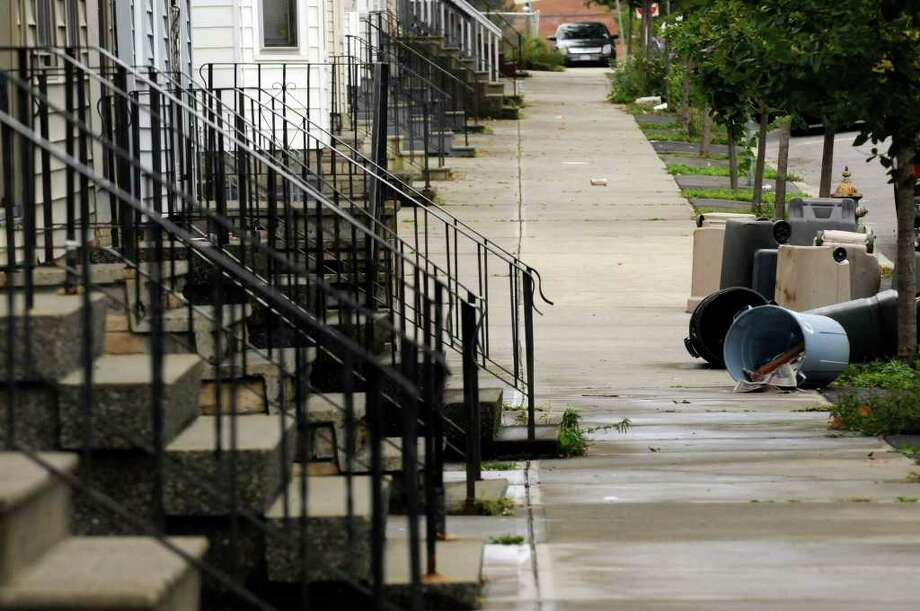 A view down State Street in Albany, where poverty levels rose dramatically from 2009 to 2010. ( Michael P. Farrell/Times Union) Photo: Michael P. Farrell