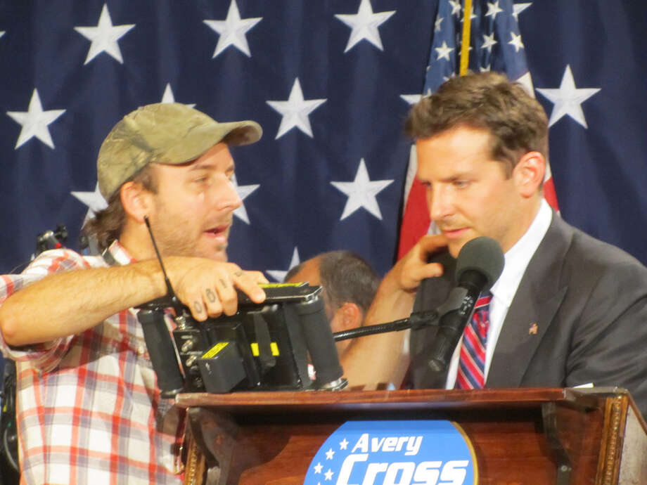 """The Place Beyond the Pines"" Director Derek Cianfrance reviews a take with star Bradley Cooper during filming on Wednesday, Sept. 21, 2011. (Photo courtesy Steve Hungsberg) Photo: ALL"