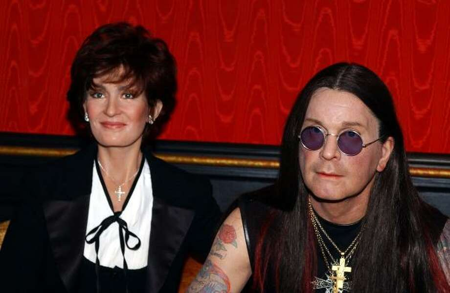 Real or wax? Sharon and Ozzy Osbourne Photo: AP