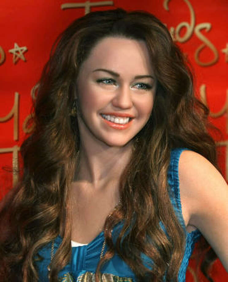 The wax figure of Miley Cyrus made its world debut at Madame Tussauds New York. Photo: TIMOTHY A. CLARY, AFP/Getty Images