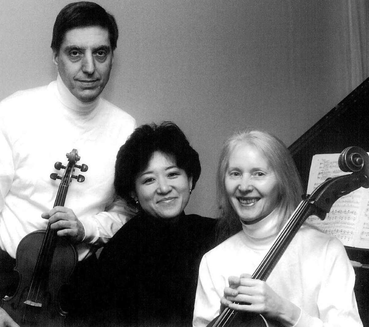 The Errante-Cho Trio includes, from left, violinist Richard Errante, pianist Kyong Cho and cellist Lois Errante. They are slated to perform in Westport Sunday, Oct. Oct. 2.