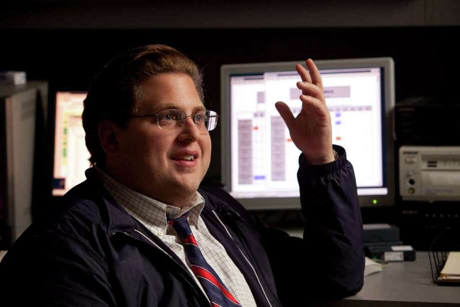 "MELINDA SUE GORDON AWKWARD CONVERSATION: ""I'm sorry, man. I don't think there was a single moment of physical comedy in the entire film,"" Jonah Hill told a reporter who asked him about its subtlety in Moneyball. Photo: Melinda Sue Gordon"