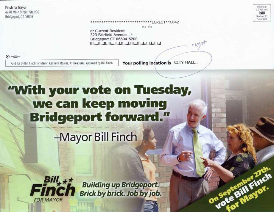 Finch for Mayor mailer. Photo: Contributed Photo