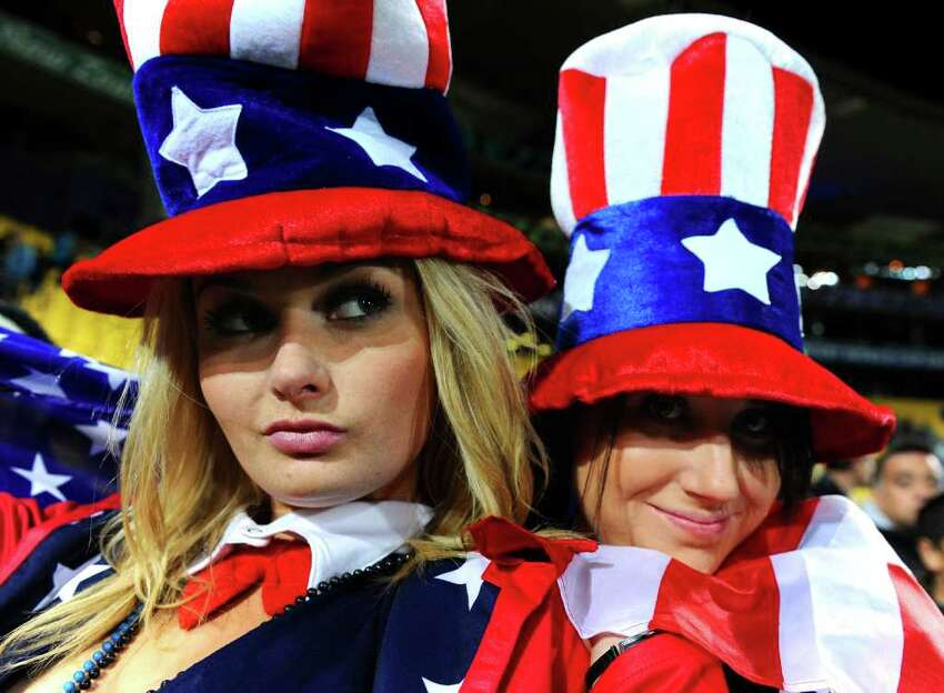 WELLINGTON, NEW ZEALAND - SEPTEMBER 23: USA fans enjoy the atmosphere during match 23 of the IRB 2011 Rugby World Cup between Australia and the USA at Wellington Regional Stadium on September 23, 2011 in Wellington, New Zealand.