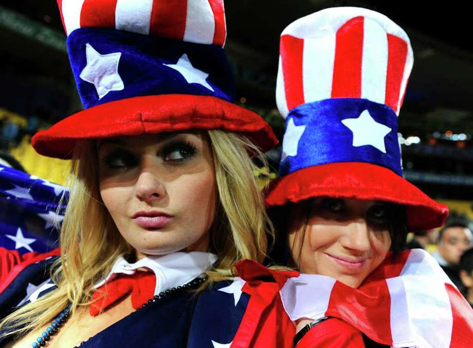 WELLINGTON, NEW ZEALAND - SEPTEMBER 23:  USA fans enjoy the atmosphere during match 23 of the IRB 2011 Rugby World Cup between Australia and the USA at Wellington Regional Stadium on September 23, 2011 in Wellington, New Zealand. Photo: Mike Hewitt, Getty Images / 2011 Getty Images