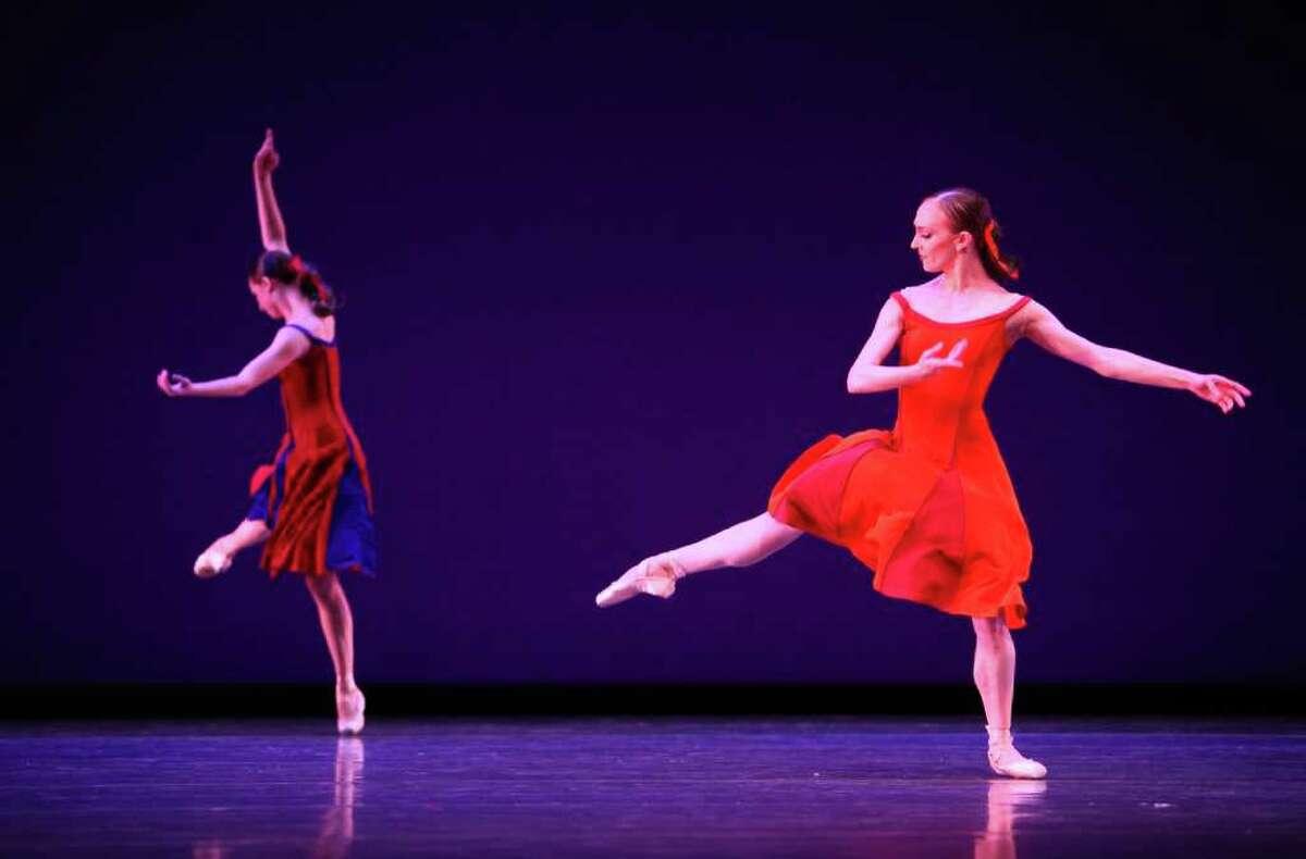 Dancers perform Christopher Wheeldon's 'Carousel (A Dance)' during a dress rehearsal for Pacific Northwest Ballet's All Wheeldon season opener.