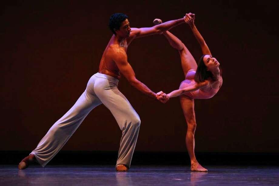 Maria Chapman and Karel Cruz perform 'After the Rain pas de deux.' Photo: JOSHUA TRUJILLO / SEATTLEPI.COM
