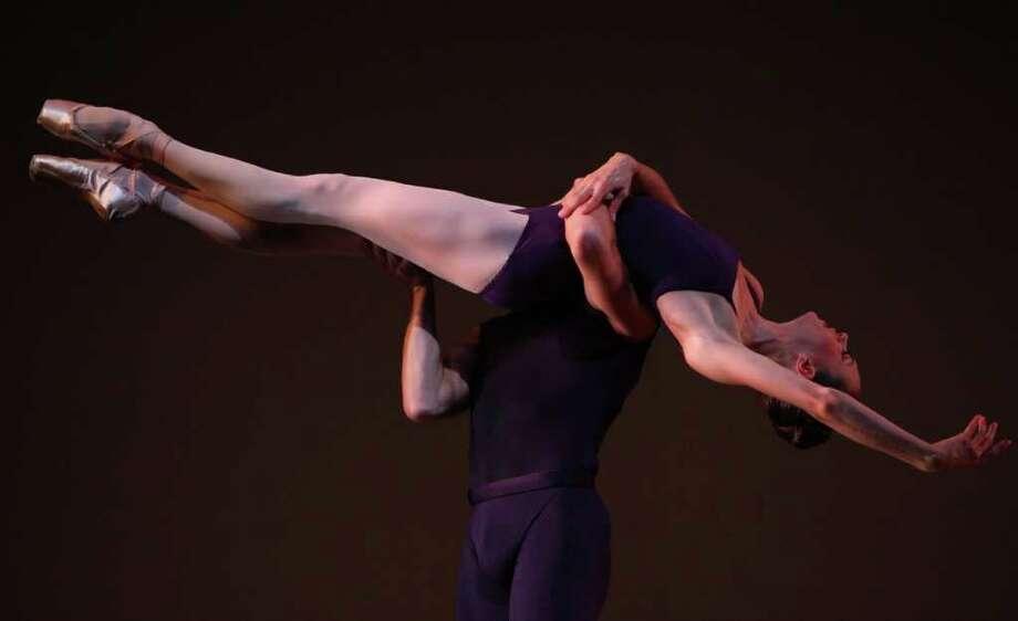 Lucien Postlewaite and Rachel Foster perform Christopher Wheeldon's 'Polyphonia.' Photo: JOSHUA TRUJILLO / SEATTLEPI.COM