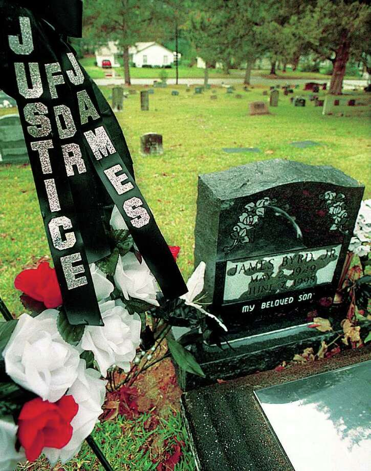 James  Byrd, Jr.'s grave in Memorial Park in Jasper  is adorned with a wreath given to the family after Shawn  Berry was sentenced to life in prison. Enterprise file photo