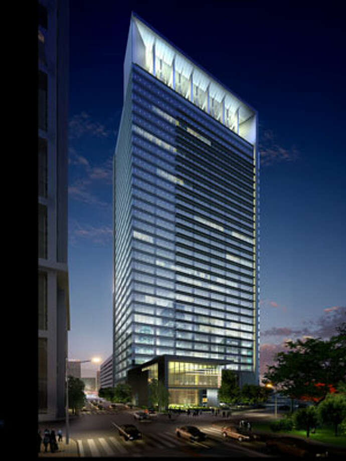 Hess Corp. leased the entire 29-story tower at the edge of Discovery Green. Photo: Courtesy Photo