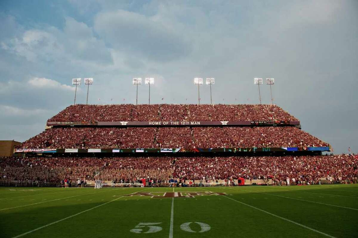 Associated Press Photos SHOWDOWN: Texas A&M athletic director Bill Byrne said he anticipates a crowd of about 86,000 to see Kyle Field's first matchup of teams in the top 10 since 1975.