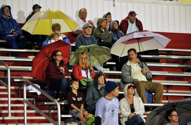 Bethel fans during their game against Pomperaug at Pomperaug High School in Southbury on Friday, Sept. 23, 2011. Photo: Jason Rearick / The News-Times