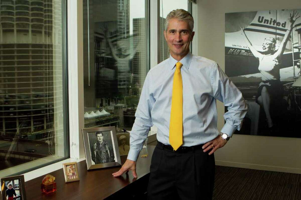 Andrew A. Nelles : For The Chronicle MERGER PROGRESS: United CEO Jeff Smisek says,
