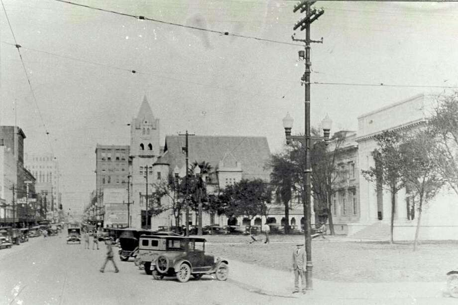 Before it was converted to the Julie Rogers Theater, the building to the right was Beaumont's City Hall. Enterprise file photo