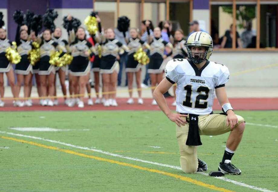 Trumbull's Brendan Moore during the football game against Westhill at Westhill High School in Stamford on Saturday, Sept. 24, 2011. Photo: Amy Mortensen / Connecticut Post Freelance