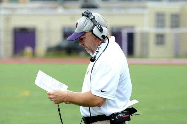Westhiill's head football coach Dick Cerone during the football game against Trumbull at Westhill High School in Stamford on Saturday, Sept. 24, 2011. Photo: Amy Mortensen / Connecticut Post Freelance
