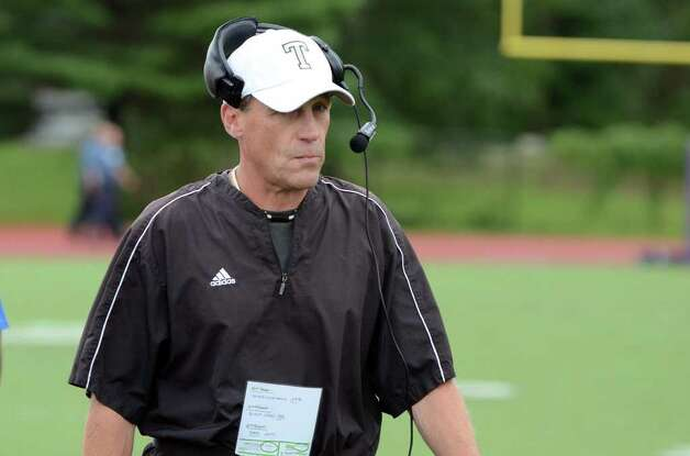 Trumbull's head football coach Bob Maffei during the Westhill vs Trumbull football game at Westhill High School in Stamford on Saturday, Sept. 24, 2011. Photo: Amy Mortensen / Connecticut Post Freelance