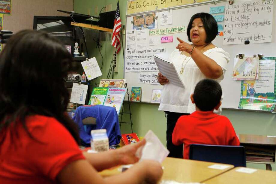 NEW YORK TIMES TEACH: Guadalupe Aguayo filed a complaint after being told that her accent would not allow her to teach. students. Photo: JOSHUA LOTT / NYTNS