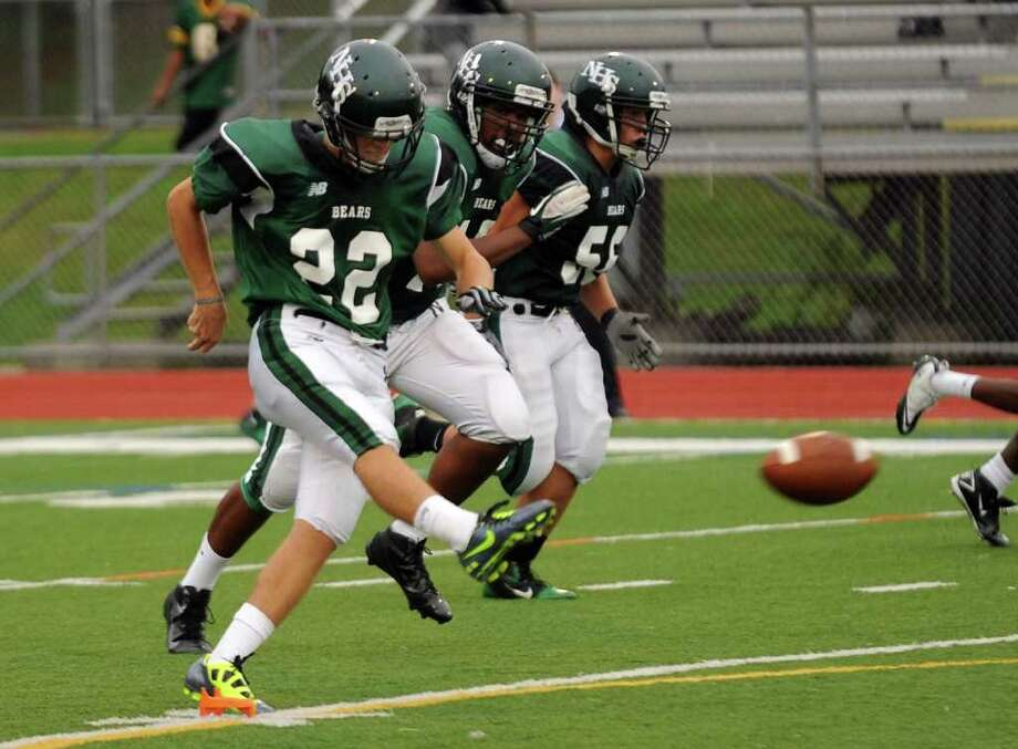 Highlights from boys football action between Stamford and Norwalk in Norwalk, Conn. on Saturday September 24, 2011. Photo: Christian Abraham / Connecticut Post