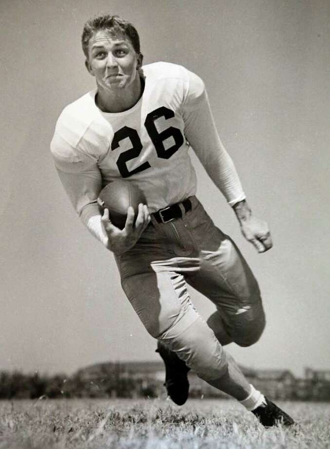Former San Antonio resident Dan Shipley served as a minister in the Church of Christ for nearly 50 years.  Shipley, the 82-year-old grandfather of football stars Jordan Shipley of the Cincinnati Bengals and Jaxon Shipley of the Texas Longhorns, is diagnosed as terminally ill with cancer.  This is a photo of Shipley when he played football for SMU in 1947.  Thursday, September 22, 2011.  Courtesy photo Photo: BOB OWEN, Express-News / rowen@express-news.net