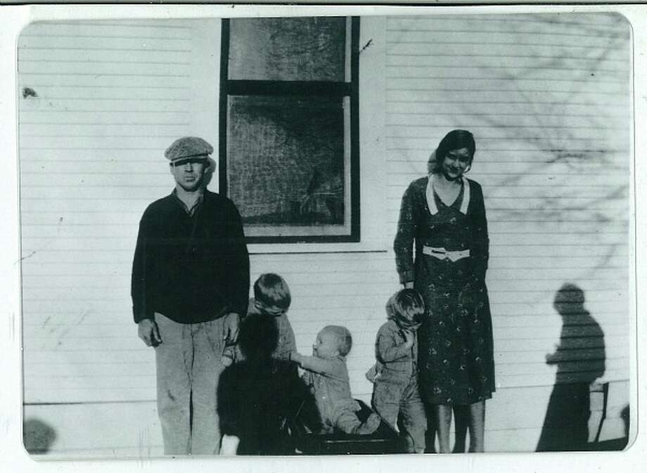 Frank Shipley Sr. (left) Frank Shipley Jr., S.A. Shipley, Dan Shipley and Beulah Shipley take a family photo in 1932. Life in Forney during the Great Depression was tough on the family as Frank Sr. became an alcoholic, and Beulah died in  1941. Photo: Express-News