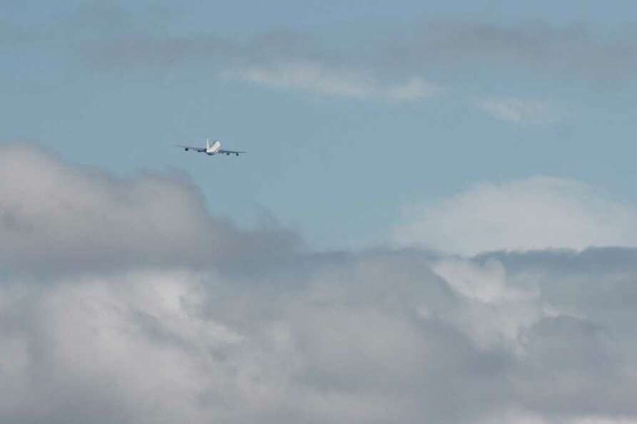 Air Force One Leaves the King County International Airport in Seattle on Sept. 25, 2011