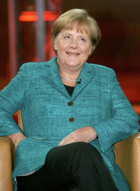 STEPHANIE PILICK : GETTY INTERVIEW: Angela Merkel said a mechanism needed to prevent future crises. Photo: STEPHANIE PILICK / DPA