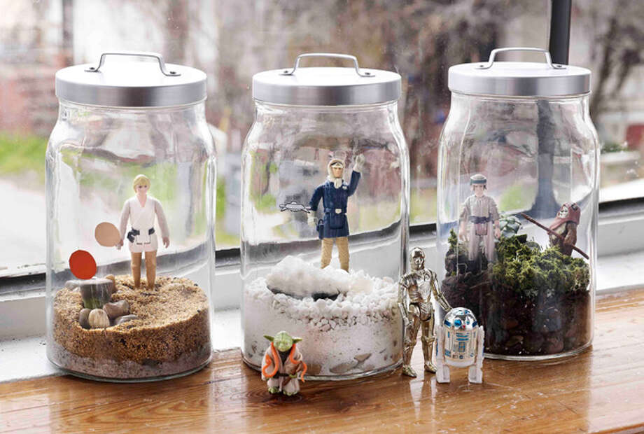 """Star Wars"" terrariums from ""World of Geekcraft: Step-by-Step Instructions for 25 Super-Cool Craft Projects"" by Susan Beal. Photo: Courtesy Photo"