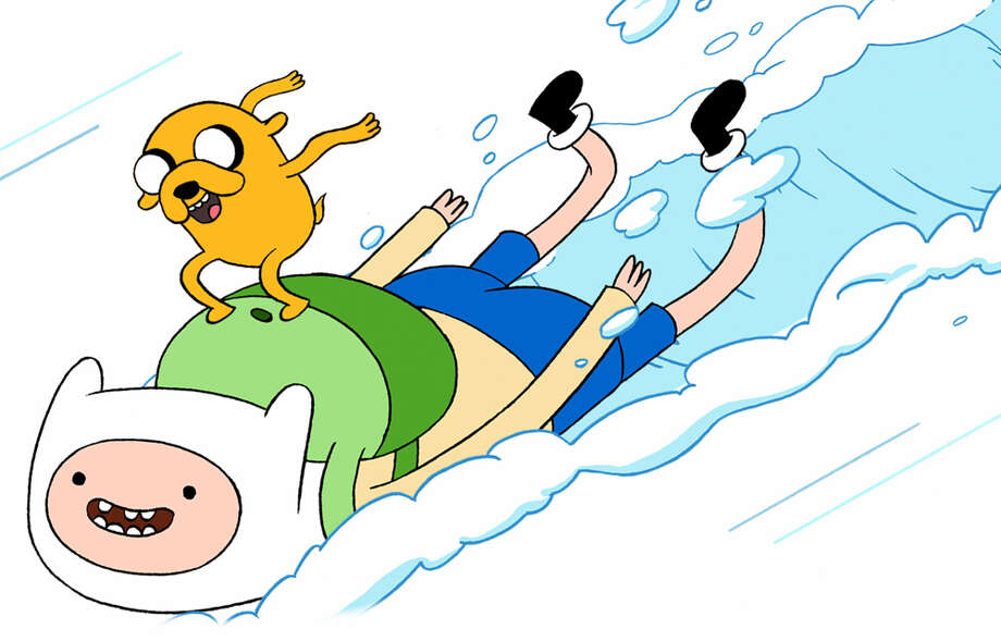 "Finn, the boy with the funny white hat, and Jake the shape-shifting dog make their DVD debut with ""Adventures Time 'My Two Favorite People.' The Cartoon Network hit airs new episodes Mondays at 7 p.m. CARTOON NETWORK ENTERPRISES"