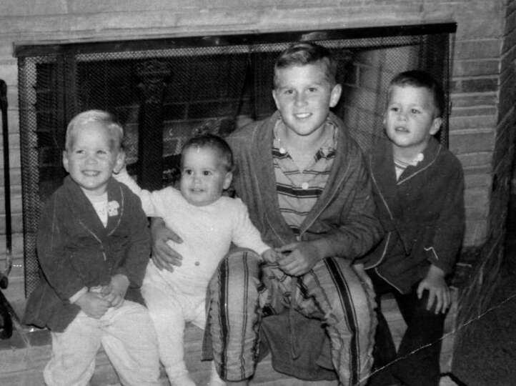 The sons of former President George H.W. Bush from left to right, Neal, Marvin, George, and Jeb a